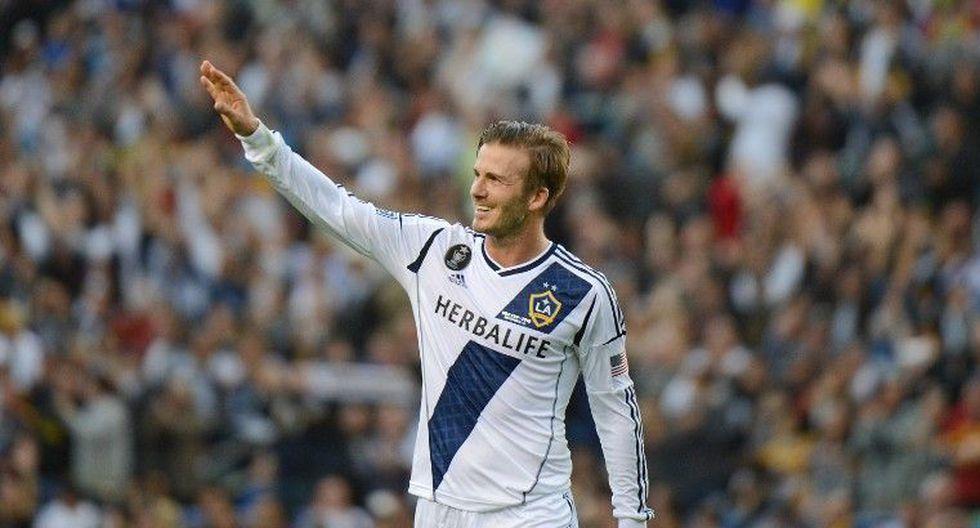 David Beckham disputó seis temporadas con LA Galaxy entre los años 2007 y 2012. (GETTY IMAGES)