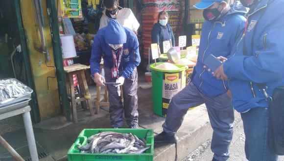 Junín: hallan más de 30 kilos de pescado en estado de descomposición en mercado de Huancayo (Foto: Municipalidad Provincial Huancayo)