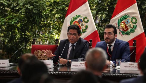 El primer ministro, Vicente Zeballos, encabezó la reunión con autoridades del AMPE en Palacio de Gobierno. (Foto: Difusión)
