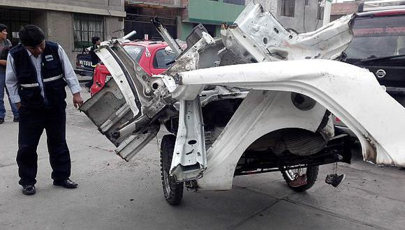Arequipa: Policía allana taller en el que 'descuartizaban' vehículos. (USI)