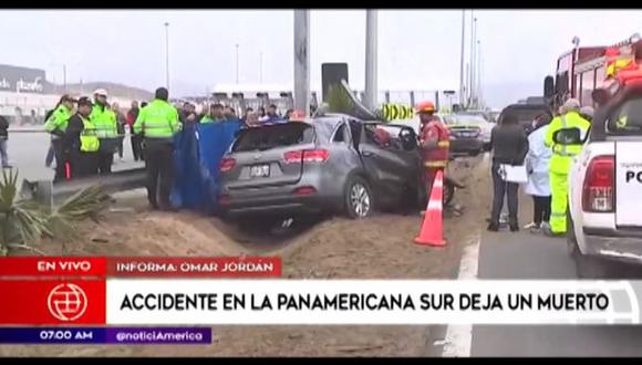 Ocurrió en el kilómetro 45 de la carretera Panamericana Sur. (Foto: Captura/América Noticias)
