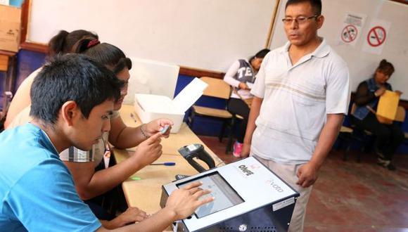 Voto electrónico se aplicará solo en 19 distritos, informó la ONPE. (USI)