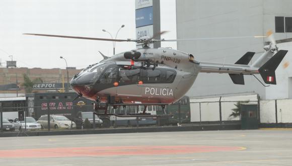 MODERNAS MÁQUINAS. Una de las aeronaves fue presentada el lunes por el ministro Pedraza. (César Fajardo)