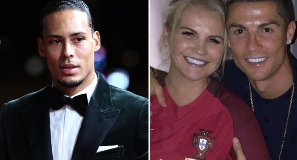 La respuesta de Katia Aveiro, hermano de Cristiano Ronaldo, a Van Dijk. (Foto: Agencias)