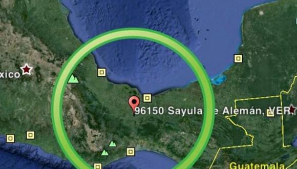 Sismo de 5,4 grados sacudió el este de México. (Google Maps)