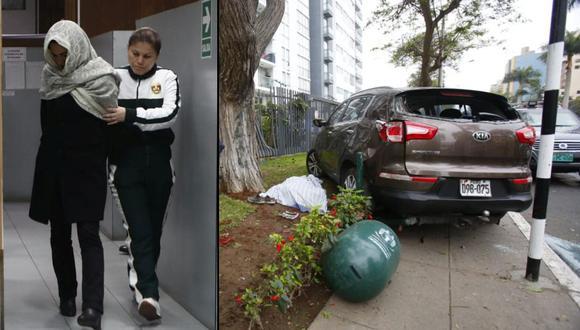 Melisa Gonzalez Gagliuffi pide a conductor que le cerró el paso que se pronuncie. (Foto: Composición GEC)