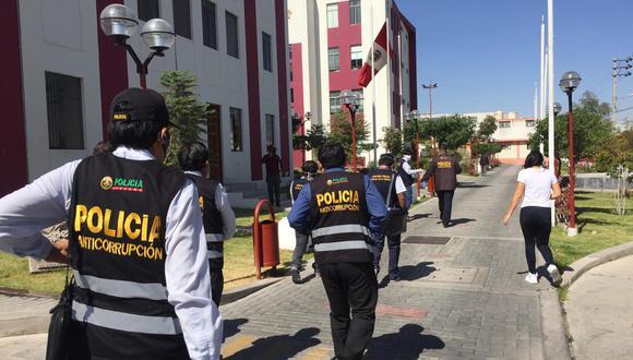 Autoridades llegaron a la sede regional. (MINISTERIO PÚBLICO)