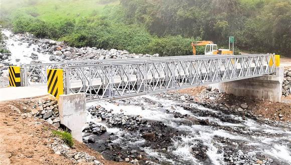 El MTC, a través de Provías Descentralizado, hizo realidad la instalación de 25 puentes modulares en ocho regiones del país en lo que va el 2021.