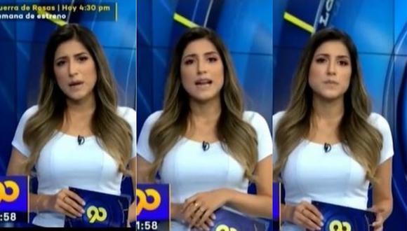 Fátima Aguilar volvió a conducción de noticiero tras el fallecimiento de su padre a causa del COVID-19. (Foto: captura de video)