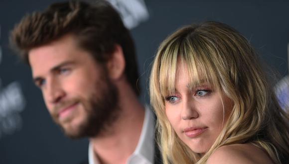 Miley Cyrus acabó su relación con Liam Hemsworth, a quien calificó de 'mal hombre'. (Foto: AFP)