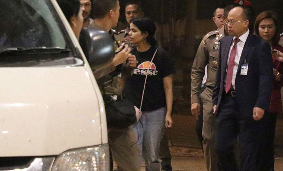 Al-Qunun pudo abandonar el aeropuerto Suvarnabhumi junto a los miembros de ACNUR, agencia de la ONU. (Foto: EFE).