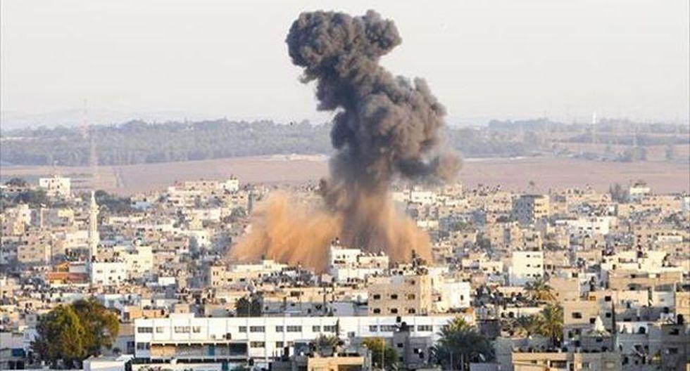 BOMBARDEO. Misil israelí cae en Ciudad de Gaza sobre un supuesto objetivo de Hamas. ()