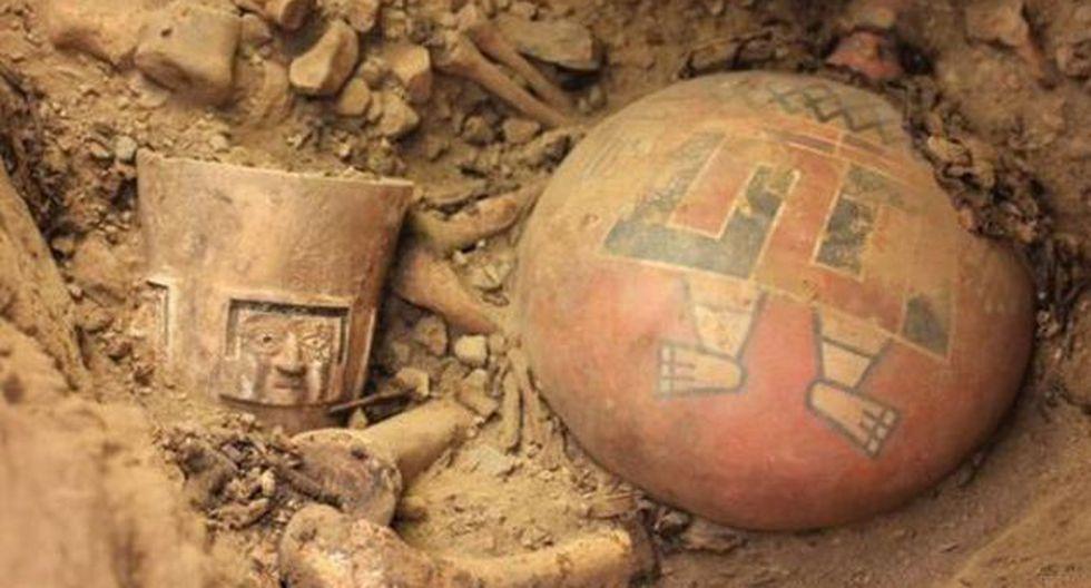 TESORO PREÍNCA. Restos tendrían 1,300 años de antigüedad. (Difusión)