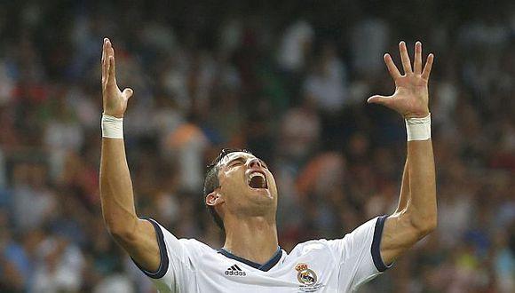 Cristiano Ronaldo con la boca llena de felicidad. (Reuters)