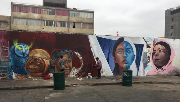Los murales contienen paisajes, rostros y elementos característicos de la cultura peruana. (Foto: Municipalidad de La Victoria)