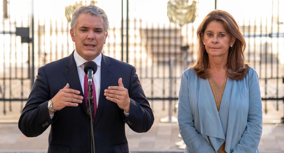 Imagen de Iván Duque, presidente de Colombia, y de la canciller y vicepresidenta Marta Lucía Ramírez. (Archivo).