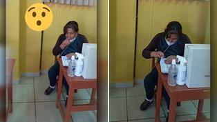 Miembro de mesa quiebra protocolos de sanidad previo a jornada electoral
