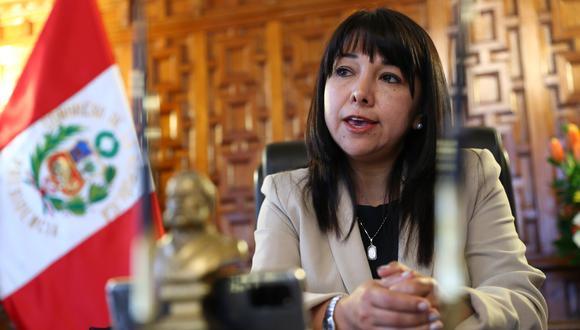 Mirtha Vásquez denegó pedido de siete bancadas para ampliar la legislatura. (photo.gec)