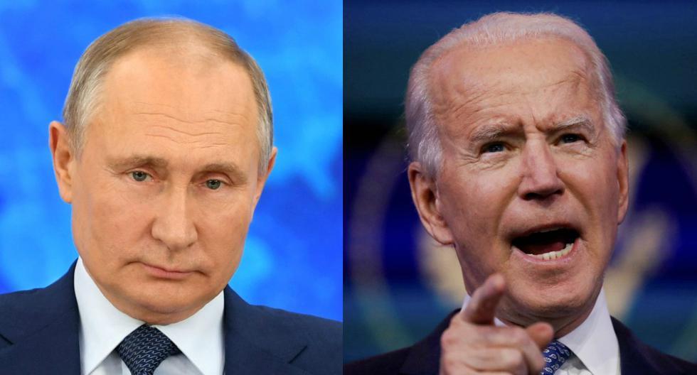 Imagen de Vladimir Putin y Joe Biden. (Foto: Reuters).