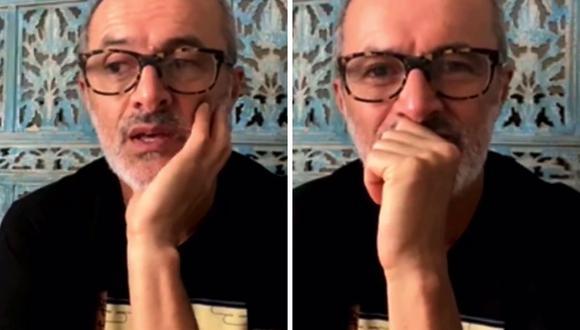 Carlos Alcántara se emociona al hablar de su etapa como claun. (Foto: Captura)