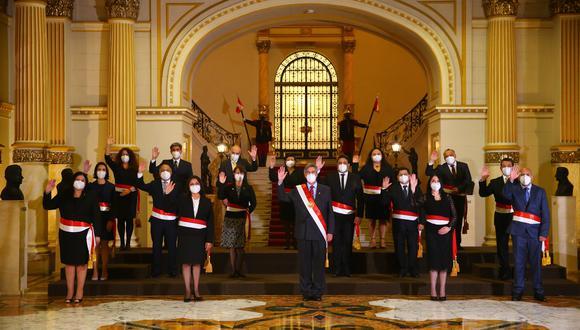 El presidente Francisco Sagasti tomó juramento a los integrantes de su Gabinete, liderado por Violeta Bermúdez (Foto: Palacio de Gobierno)