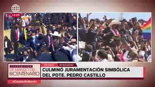 Evo Morales sufrió percance cuando intentó subir al escenario