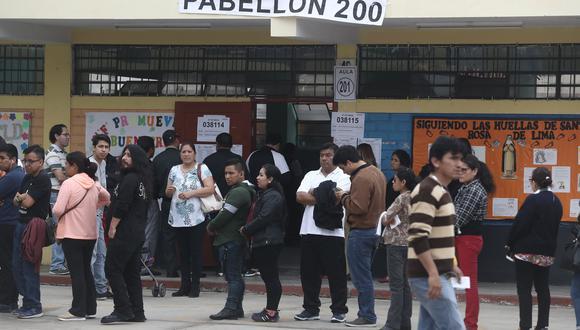 Suárez Ognio explicó que las jornadas electorales podrían ser un factor de riesgo para la propagación del COVID-19 debido a las aglomeraciones y a las grandes concentraciones de votantes. (Foto: GEC)