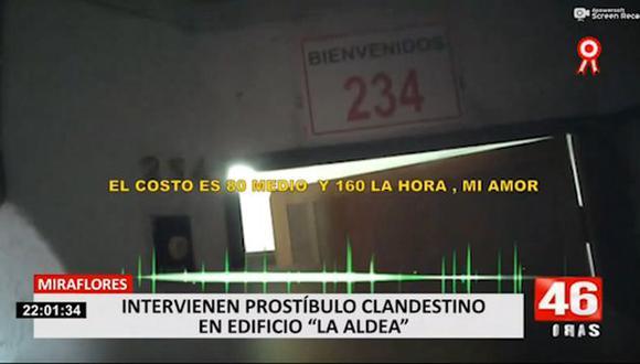 En el inmueble se intervino a tres mujeres extranjeras. (24 Horas)