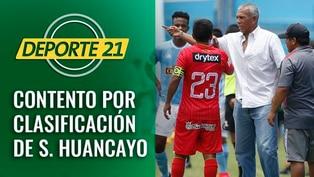 Valencia contento por clasificación de S. Huancayo