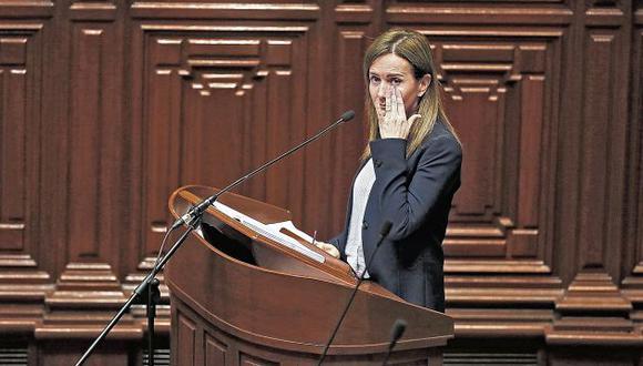 Ministra interpelada (Renzo Salazar/Perú21)