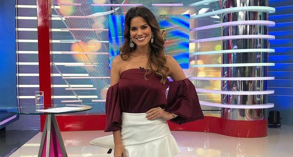 Valeria Piazza debutó como conductora de espectáculos en el noticiero Edición central. (América TV)