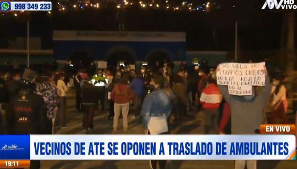 Los vecinos no desean que trasladen a un grupo de ambulantes al parque Cahuide. (ATV)