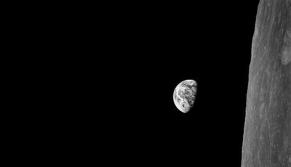 El planeta tierra visto desde la luna. (creativetime.org)