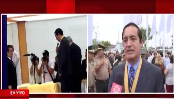 Alcalde Alex González se pronunció respecto al lapsus durante juramentación de su segundo regidor realizada el martes 1 de enero. (Captura: América Noticias)