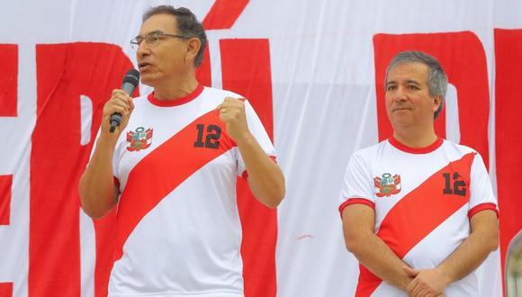 Martín Vizcarra vivió el partido de la selección peruana desde Cusco. (Foto: GEC)