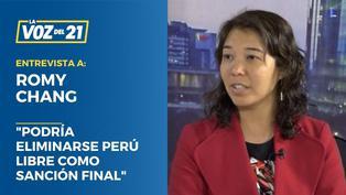 """Romy Chang: """"Podría eliminarse Perú Libre como sanción final"""""""