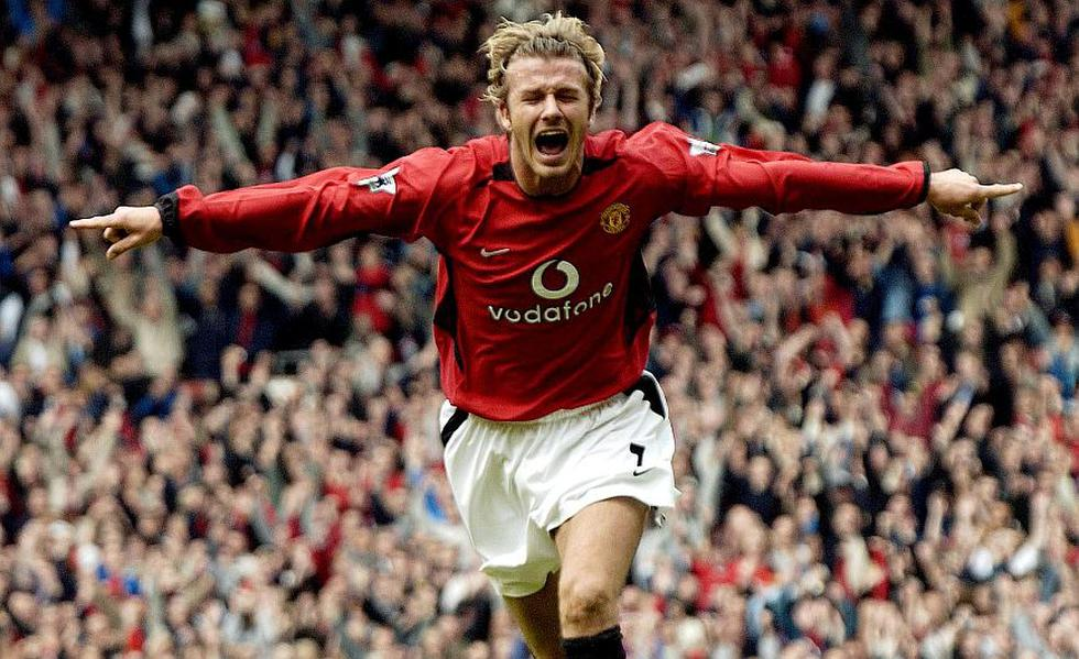 David Beckham debutó en 1992, a los 17 años, bajo los colores del Manchester United, donde jugó hasta el año 2003. (AFP)