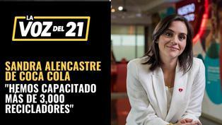 """Sandra Alencastre de Coca Cola: """"Hemos capacitado más de 3,000 recicladores"""""""