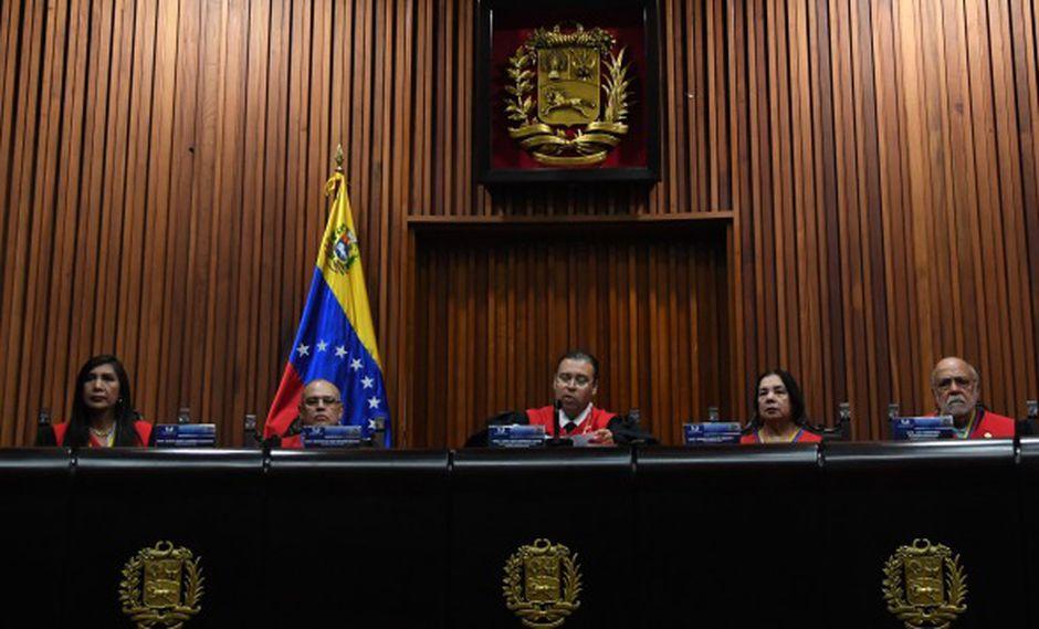 El Tribunal Supremo es muy cercano al Régimen de Nicolás Maduro. En la foto, una audiencia de la Corte Suprema de Justicia de Venezuela. (Foto: AFP)