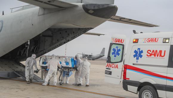 Apurímac: Enfermero grave por COVID-19 fue trasladado vía aérea hasta Lima  (Foto: Ministerio de Defensa)