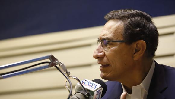 Versión de la UPCH desvirtúa lo declarado por Martín Vizcarra de que fue voluntario de la vacuna COVID-19 de Sinopharm. (Foto: Presidencia)