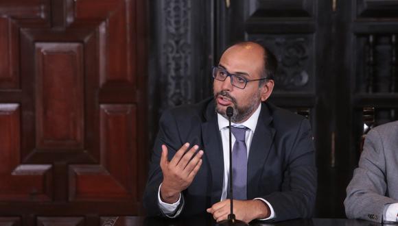 Daniel Alfaro destacó su compromiso con la transparencia en su gestión al mando del Ministerio de Educación. (FOTO: USI)