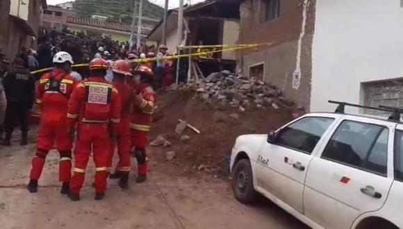 Casa se derrumbó. (Foto: Captura de video / Facebook)