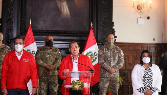 La ministra Ana Neyra anunció la estrategia de Ejecutivo tras la vacancia planteada desde el Congreso (Presidencia).