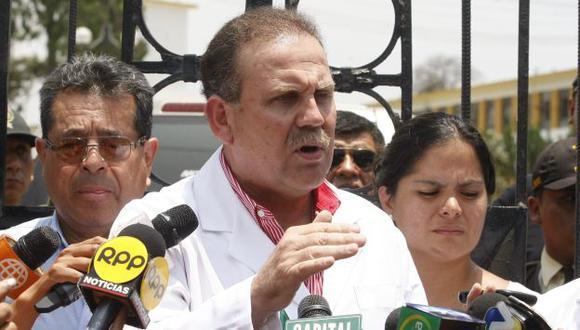 Tejada visitó hoy el Hospital de Huaycán. (USI)