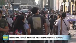 Cercado de Lima: Aglomeración de personas en Mesa Redonda en vísperas de Halloween