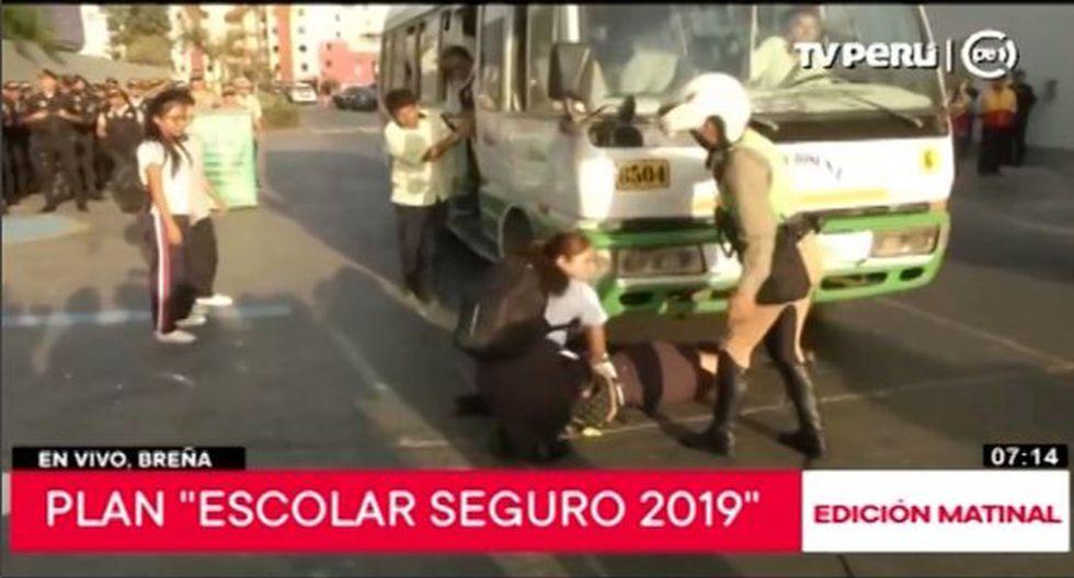Estos escenarios fueron recreados en el exterior de la Institución Educativa Emblemática Mariano Melgar en Breña. (Video: TV PERÚ)