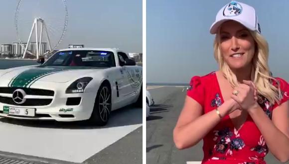 La policía de Dubái muestra los lujosos vehículos con los que patrulla sus calles. (Foto: Supercar Blondie en Facebook)