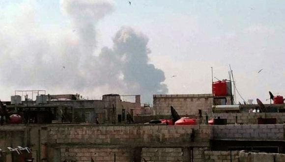 El Observatorio Sirio de Derechos Humanos, una organización británica que monitorea la guerra, indicó que la torre pertenecía a combatientes iraníes. (Foto:  Imagen referencial SANA / AFP)