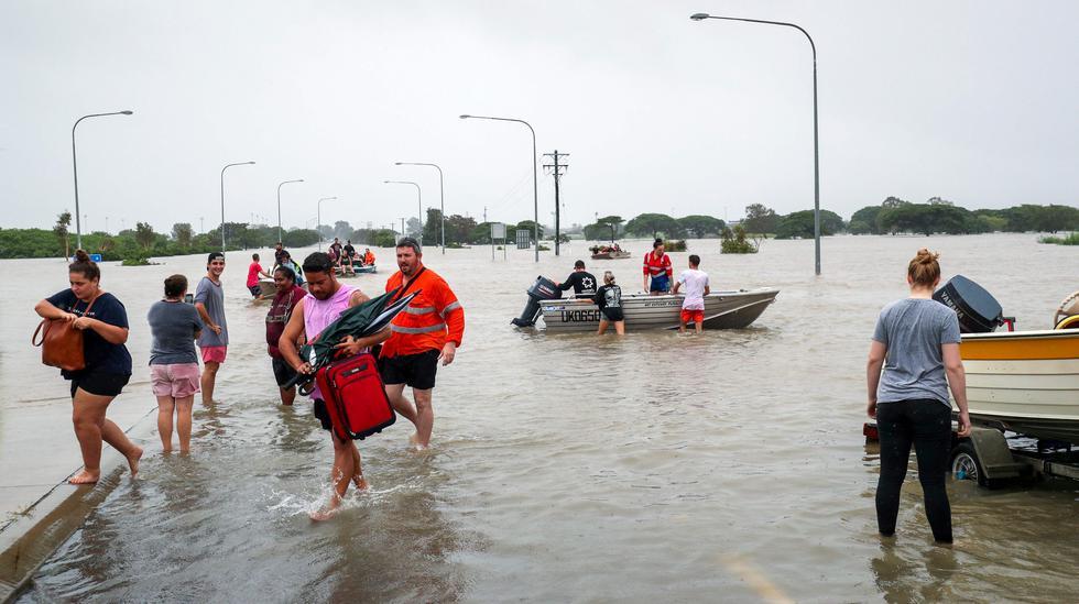 Las inundaciones en el nordeste de Australia son producidas por la temporada del monzón. (Foto: AFP)